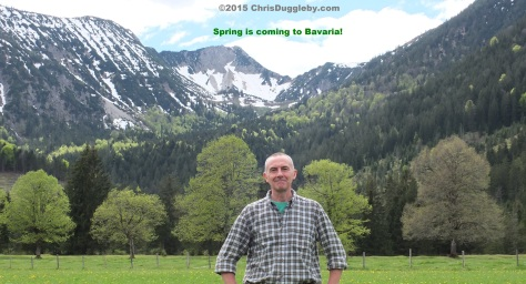 Chris Duggleby taking in the Spring air in the Bavarian Alps