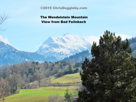 View (on Good Friday) of the Wendelstein taken from my balcony in Bavaria