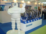 Michelin Man posing at the Taipei Cycle Day (courtesy of Rico Shen)