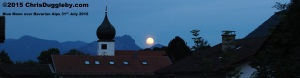 17 Blue and White - Bavarian State colours - on July 31st even the moon was 'blue' in Bad Feilnbach