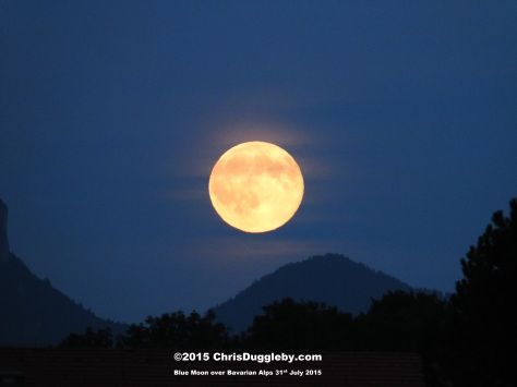 Larger version of the blue moon over Bad Feilnbach in Bavaria taken on 31st July 2015