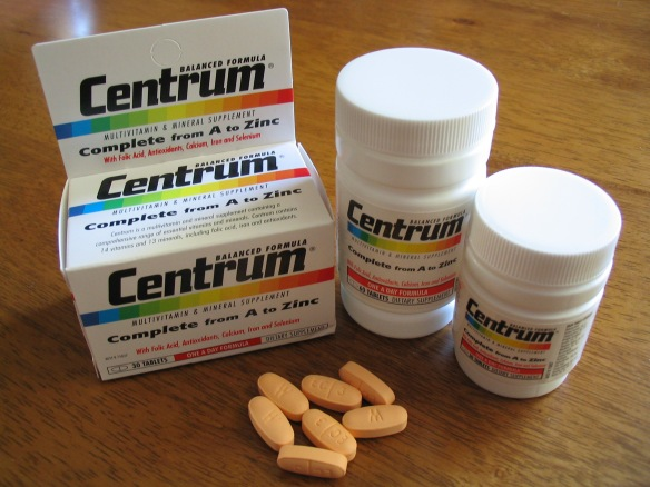 Commercially available multivitamin tablets