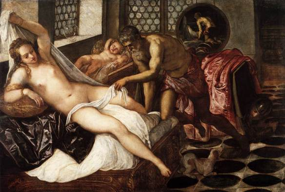 Venus and Mars discussing contraception while Vulcan sleeps Painting by Jacopo Tintoretto 1518 - 1594