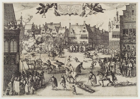 The execution of Guy Fawkes by Nicolaes Jansz Visscher