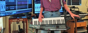Roland's AX Shoulder Synthesizer in the UK VALIUMM Studio