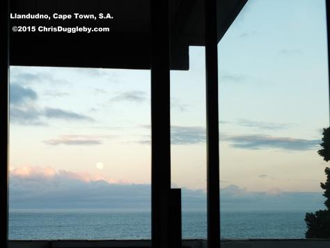 Full moon Nov 2015 'blaring' through the bedroom window at Sunset Rocks (Next to the VALIUMM 3 Studio)