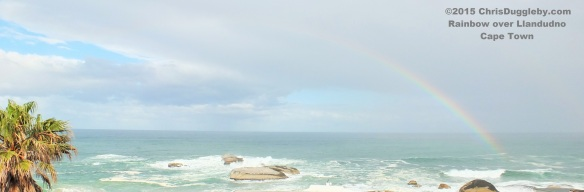 Rainbow over Sunset Rocks, Table Mountain National Park, where the VALIUMM 3 studio is located