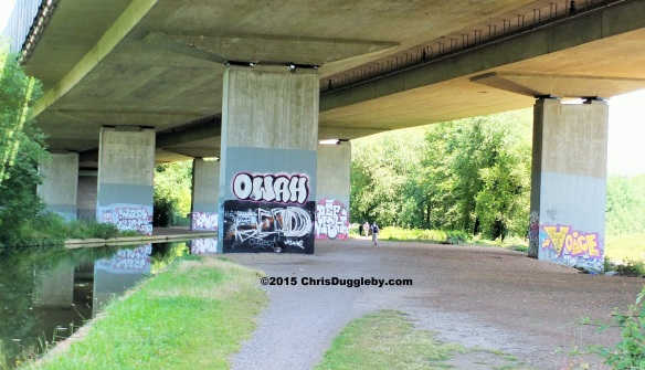 Art Studio Rather Inconveniently Positioned under the M25 Motorway