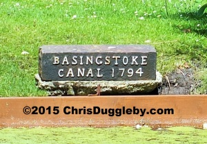 Basingstoke Canal 1794 sign