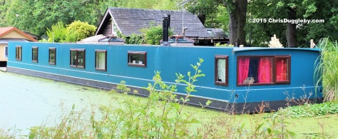 Canal Boat Home 6 along the Basingstoke Canal