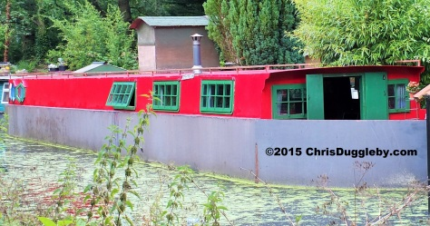 Canal Boat Home 8 along the Basingstoke Canal