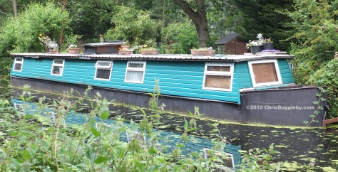 Canal Boat Home 9 along the Basingstoke Canal