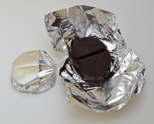 Chocolate with packaging