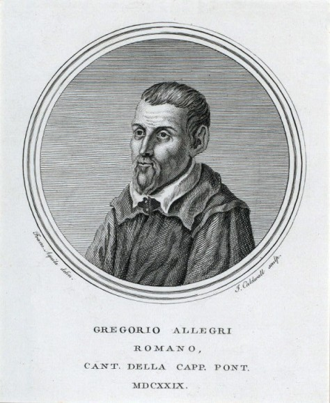 Gregorio Allegri 1582 - 1652: Composer of 'Miserere'