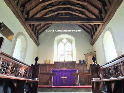 Interior view 1 of Norman Church St Nicholas (1140 AD) near Pyrford