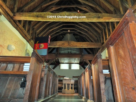 Interior view 2 Norman Church St Nicholas 1140 AD near Pyrford from Chris Dugglebys article on Surrey Walks DSCF6506 (2)