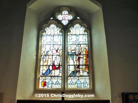 Interior view 4 Norman Church St Nicholas 1140 AD near Pyrford from Chris Dugglebys article on Surrey Walks DSCF6499 (2)