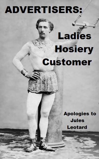 Jules Léotard modelling his sports outfit - please click 'like' to receive exciting hosiery adverts