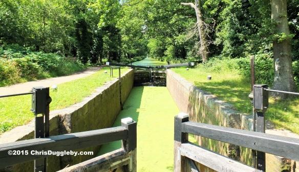Locks along the Basingstoke Canal