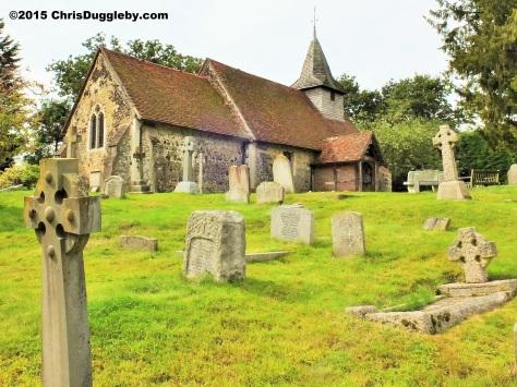 Norman Church St Nicholas 1140 AD near Pyrford from Chris Dugglebys article on Surrey Walks DSCF6462 (2)