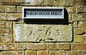 Pigeon House Bridge 1763 Sign