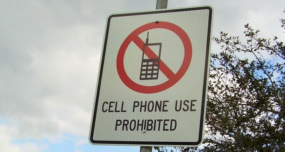 Respect Official Signs For Cellphone Free Areas