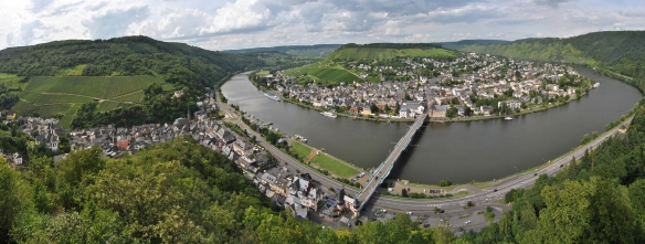 Traben-Trarbach on the Moselle (Mosel) near Trier in Germany