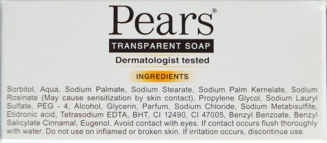 Ingredients of Reformulated Pears Soap