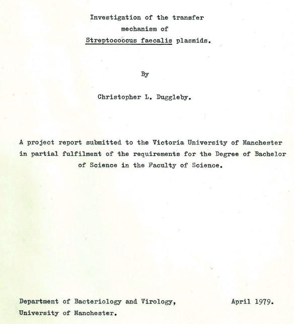 Chris Duggleby 1979 Jumping Genes Dissertation
