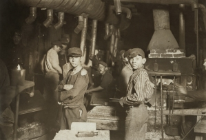 Boys Working at Midnight in the Glassworks