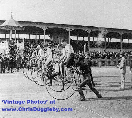 'Ordinary' (Penny Farthing) Bicycle Race from 1890