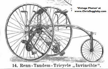 Drawing of Invincible 'Renn' ('Racing') Tricycle from Germany