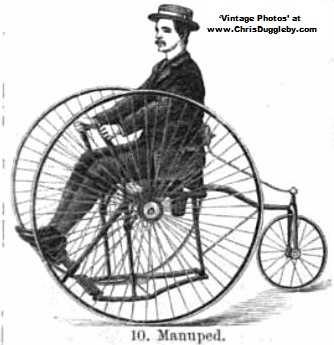 The Manuped Bicycle drawn in 1887