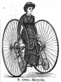 A Lady Takes a Ride on Her Otto Bicycle - Picture From 1887