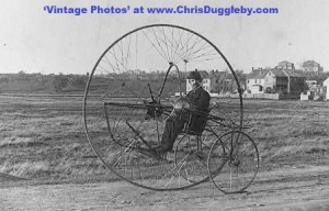 1882 Photo of The Charles Oldreives Tricycle