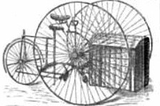 An Early Ecofriendly Freight Vehicle - The 1880s Luggage Tricycle