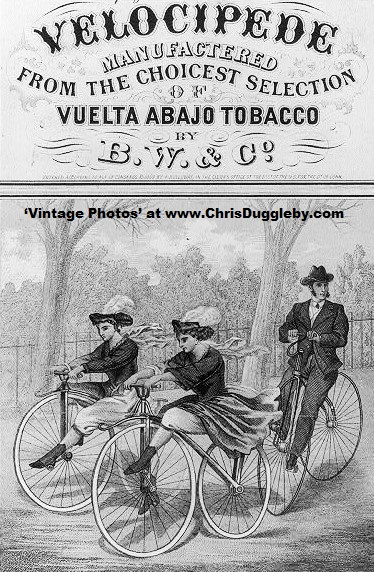 As Fashion Items Velocipedes Featured Often on Tobacco Packs. This One is from 1869