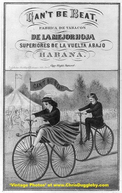 Velocipede Riders Used to Promote Tobacco in 1869
