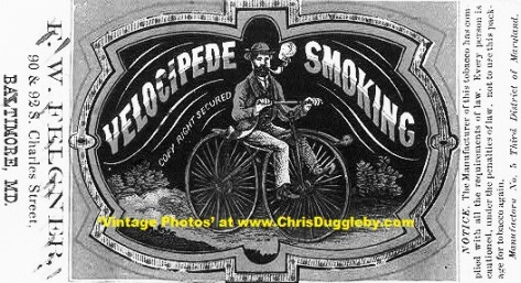Clearly It Was Common For Gentlemen on Velocipedes To Smoke Pipes in 1869