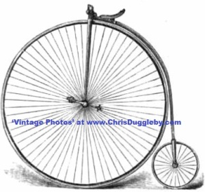 The Invincible German 'Renn' (or 'Racing') Bicycle drawn in 1887
