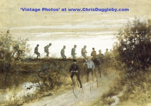 Sunset Tour for the Penny Farthing Enthusiasts Club in 1880