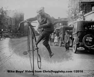 Ever wondered how you mount a Penny Farthing?