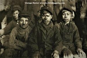 Sam Belloma (left) 14(ish) already had 2 yrs experience as a Pittston Coal Breaker