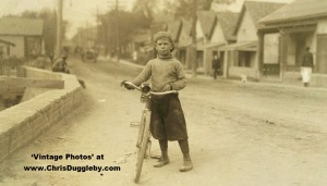 12 Yr Old Isaac Boyet - the CEO (and main employee) of the 'Club Messenger Service' based in Waco's Red Light Area 1913