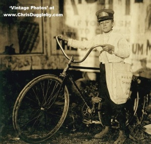 14 year old Marion Davis - Covered the Reservation for Belle Vue Messenger Service in Houston, 1913