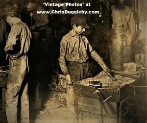 Boy on Night Shift At Indiana Glass Works 1908