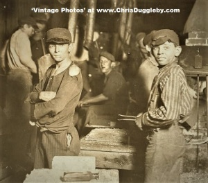 Midnight With The Boys At The Glass Works in Indiana 1908