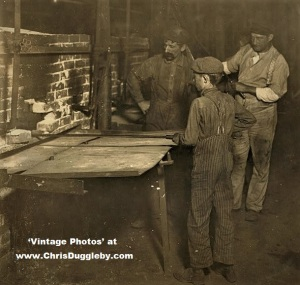 August At 1.00 A.M. - Small 'Carrying-in Boys' Busy At Work Indiana 1908