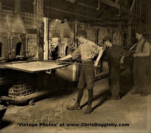 Midnight Child Labour in the Glass Works at Grafton, W. Va 1908