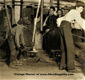 Small Boy at Northwood Glass Co, Wheeling, W. Va 1908